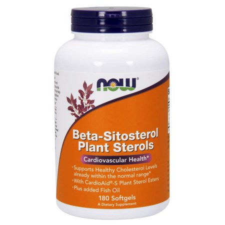 Now Supplements, Beta-Sitosterol Plant Sterols with CardioAid®-S Plant Sterol Esters and Added Fish Oil, 180 Softgels -