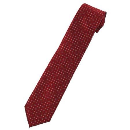 Diamond Pattern Tie (Mens X-Long Maroon Mini Diamond Pattern)