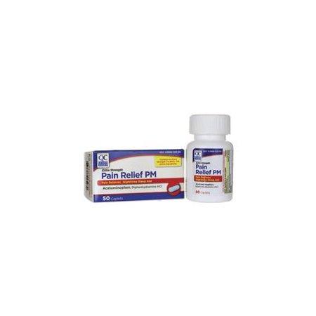 2 Pack Quality Choice Non Aspirin PM Extra Strength 50 Caplets Each (Caplet Extra Strength Aspirin)