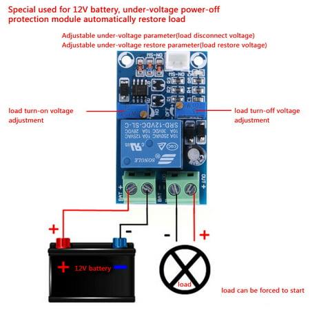 Garosa Batterie de 12V basse tension coupée du module de protection de récupération de commutation automatique, commutateur de coupure de basse tension, contrôle de sous-tension - image 1 de 8