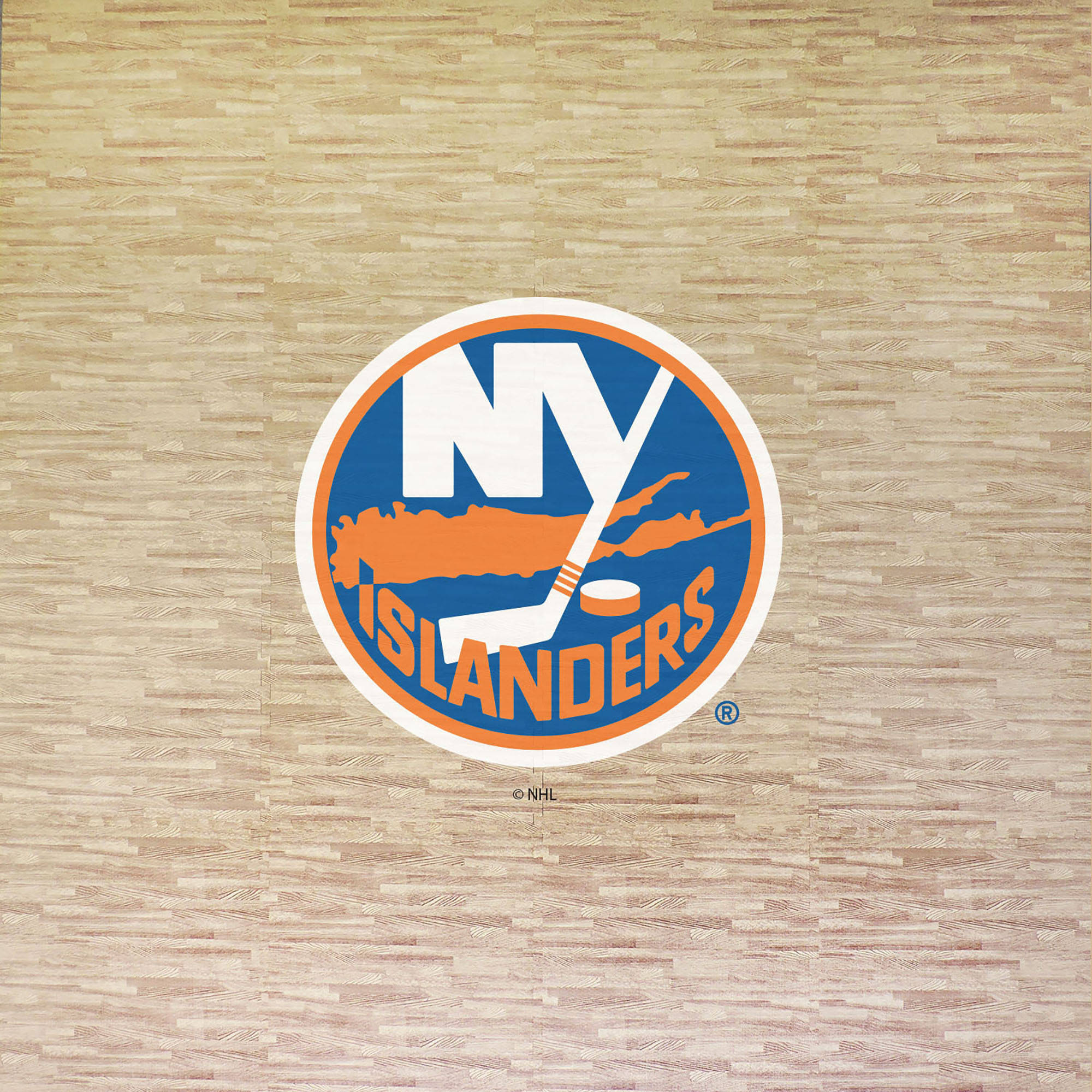 NHL New York Islanders Portable Foam Puzzle Tailgate Floor Mat by Coopersburg Sports