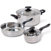 Gibson Home Manta Stainless Steel 5 Piece Cookware Set