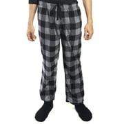 DG Hill Mens Pajama Pants Lounge Fleece Bottoms with Pockets, Plaid or Camo