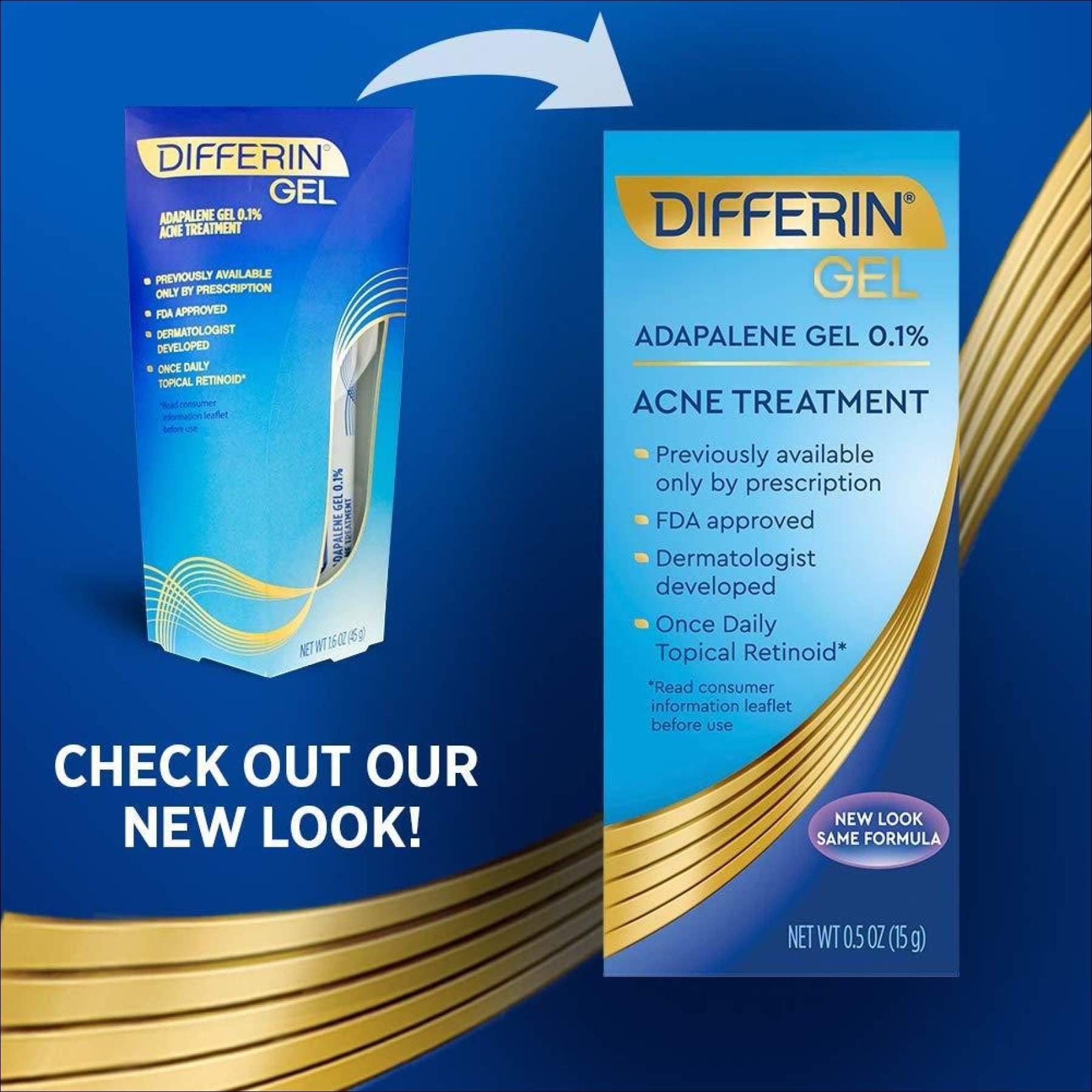 Differin Adapalene Gel 0 1 Acne Treatment 15g 30 Day Supply Walmart Canada