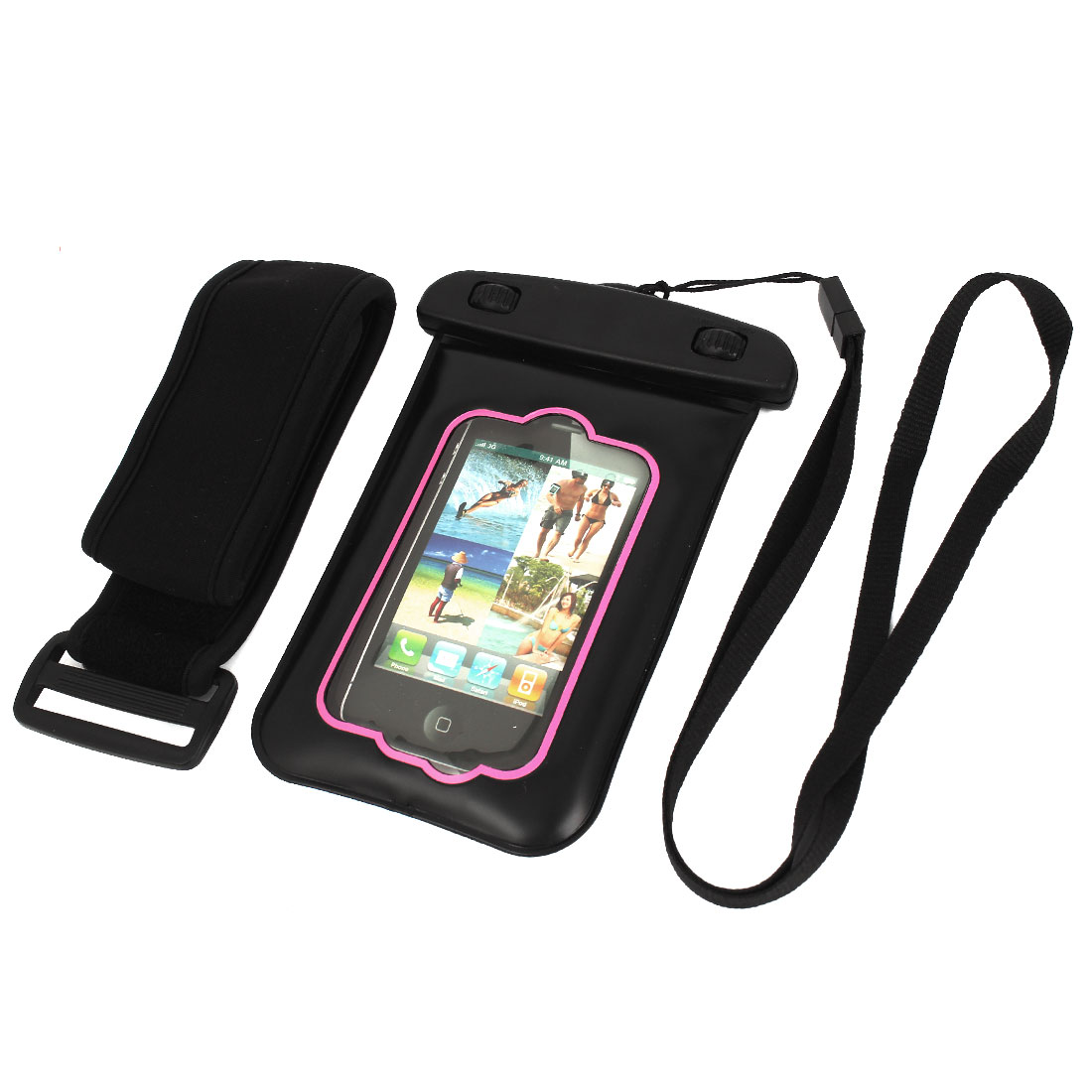 Unique Bargains Waterproof Case Dry Bag Skin Cover Pouch Protector for 3.5  Mobile Phone