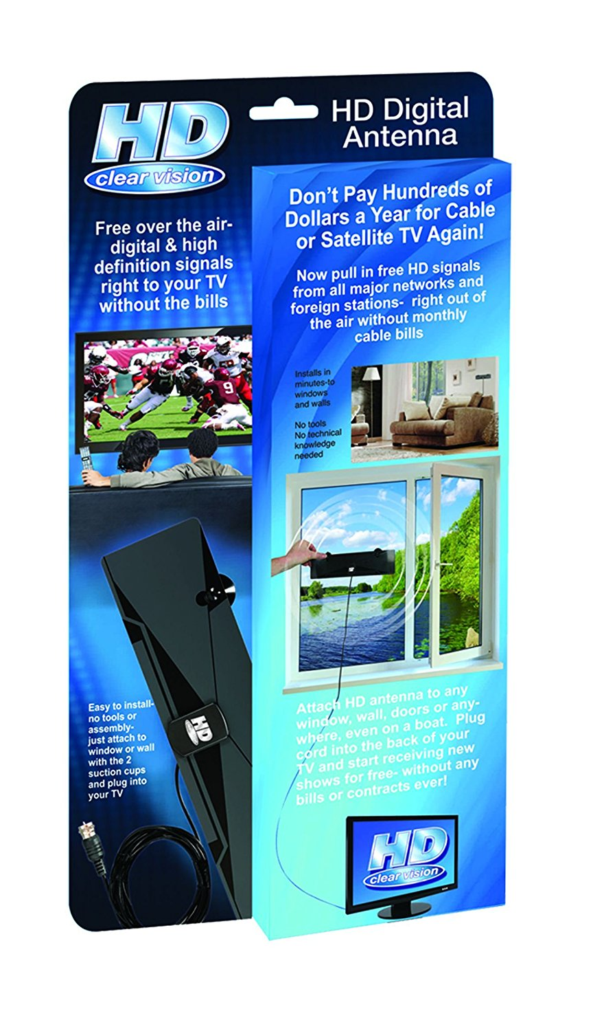 As Seen on TV HD-12 HD Clear Vision Ultra-Thin High Performance ...