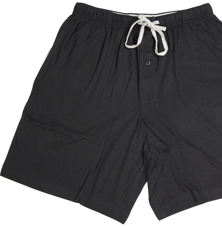 Hanes Mens Comfortsoft Cotton Knit Sleep Lounge Pajama Shorts, 40048 Black/Grey / Medium