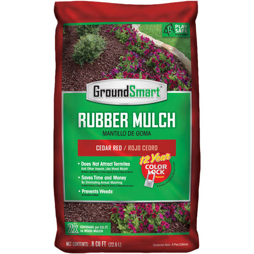 GroundSmart Rubber Mulch (98 bags/0.08 cu ft), 78.4 cu ft