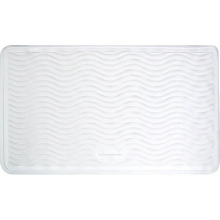 Rubbermaid Medium Rubber Bath Mat White Walmart Com