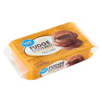 Great Value Fudge Covered Peanut Butter Filled Cookies, 9.5 Oz.