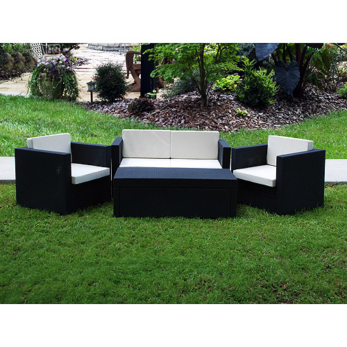 Riviera 4 Piece Resin Set With Cushions