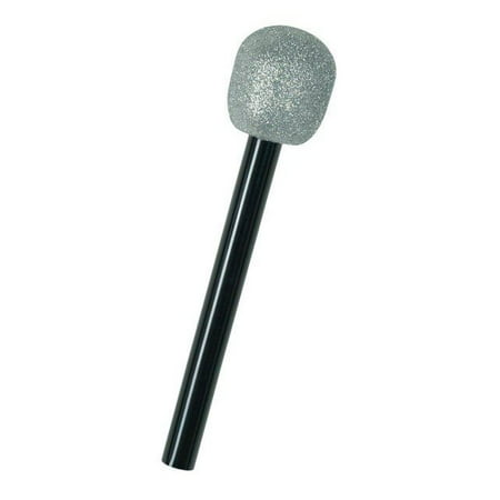 Silver Glitter Microphone