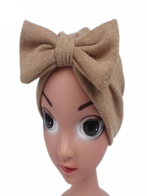 Kids Baby Girls Casual Boho Hat Cap Wool Blend Beanie Scarf Turban Head Wrap Cap