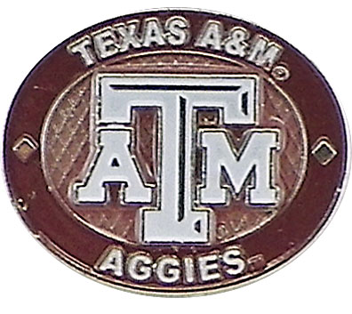 Texas A&M Aggies Oval Pin by