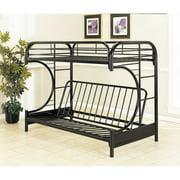Acme Furniture Eclipse Twin Over Futon Bunk Bed Black
