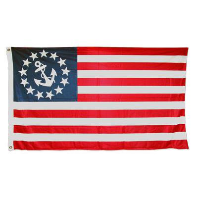U.S. Yacht Anchor Flag 3ft x 5ft Super Knit Polyester Single Sided