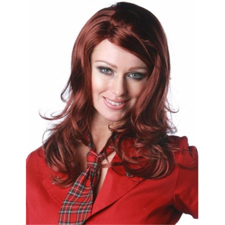 Wicked Wigs 812223011097 Women Sultry Sangria - Red Wig (Halloween Sangria White)