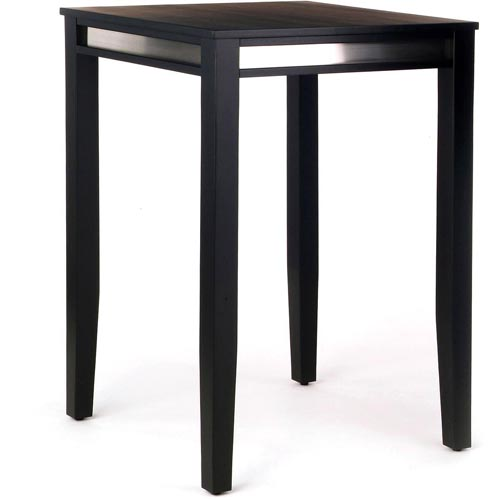 Home Styles Manhattan Pub Table, Black / Stainless