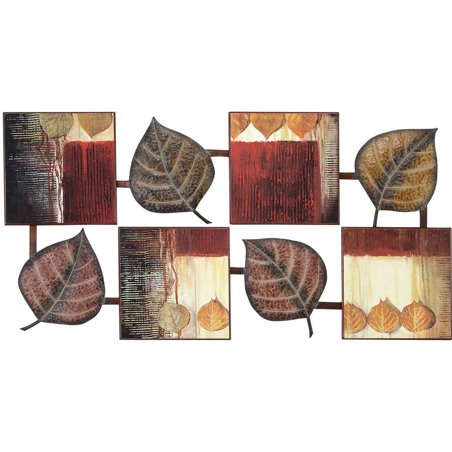 Decmode Metal and Wood Wall Decor, Multi Color by DecMode