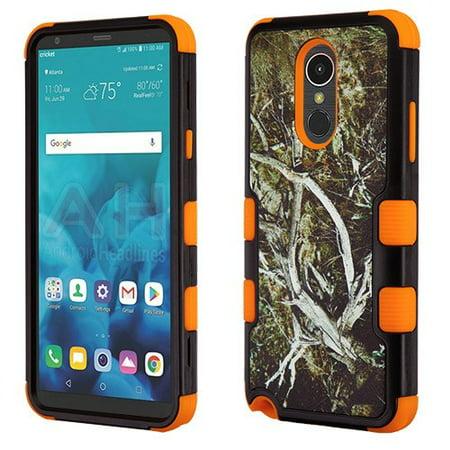 - LG Stylo 4 Phone Case Tuff Hybrid Shockproof Impact Rubber Dual Layer Hard Soft Protective Hard Case Cover Textured Vine Orange Phone Case for LG Stylo 4