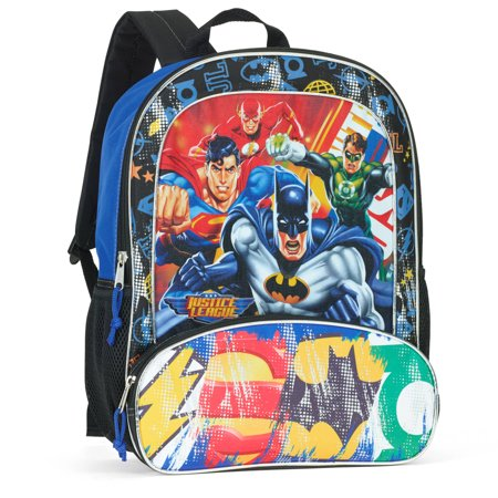 Warner Bros Justice League 16  Full Size Backpack