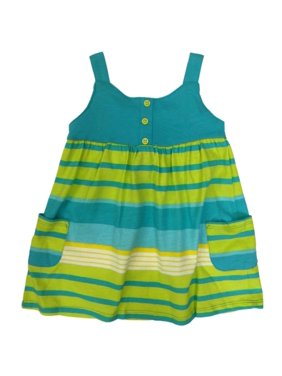 28063ac0a Product Image Carters Infant Girls Baby Outfit Blue & Green Striped Dress &  Diaper Cover
