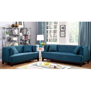 Mosjoen 2 Pieces Sofa Set in Fabric with Free Accent Pillows ()