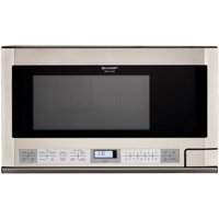 Sharp R1214 Carousel Over-the-Counter Microwave Oven 1.5 cu. ft. 1100W Stainless Steel