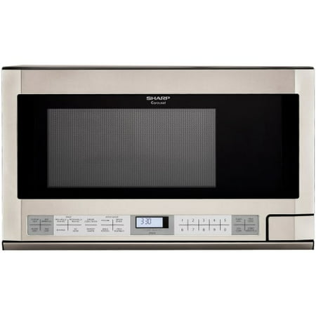 sharp r1214t 24 inch wide 1 5 cu ft built in microwave