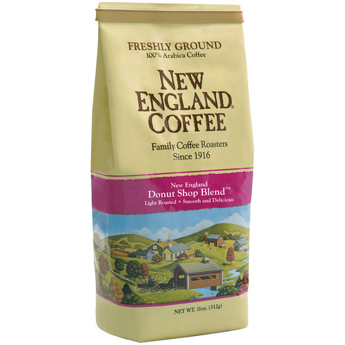 New England Coffee New England Donut Shop Blend Ground Coffee, 11 oz