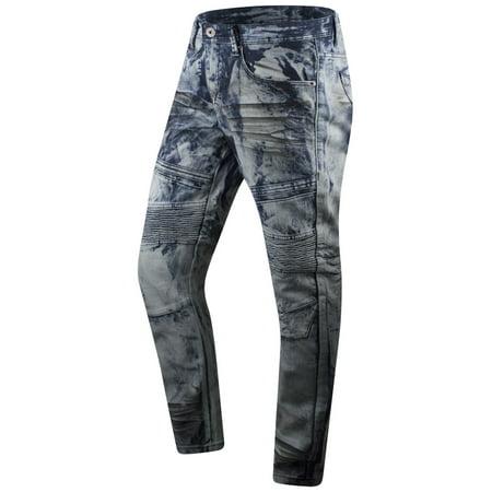 New Men Premium Biker Denim Jeans Original Fit
