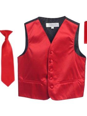 Gioberti Boys 4pc Satin Formal Vest Set