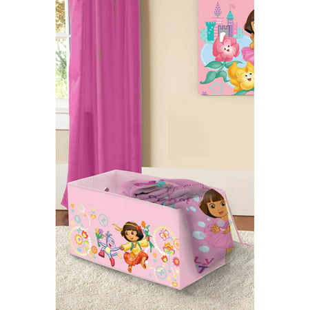 Dora Toy Box - Nickelodeon Dora the Explorer Collapsible Storage Trunk