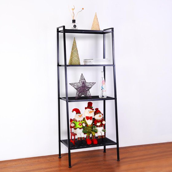 Yescom 4 Tier Metal Ladder Shelf Storage Rack