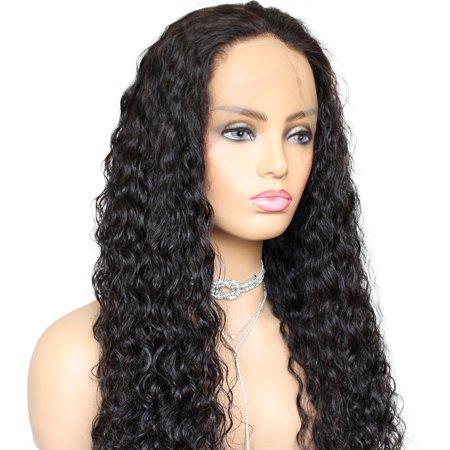 AISOM Human Hair Lace Front Wigs Natural Pre plucked Natural Color 150% Density,