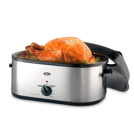 Oster 20-Quart Roaster with Self-Basting, High-Dome Lid Brushed Stainless Steel