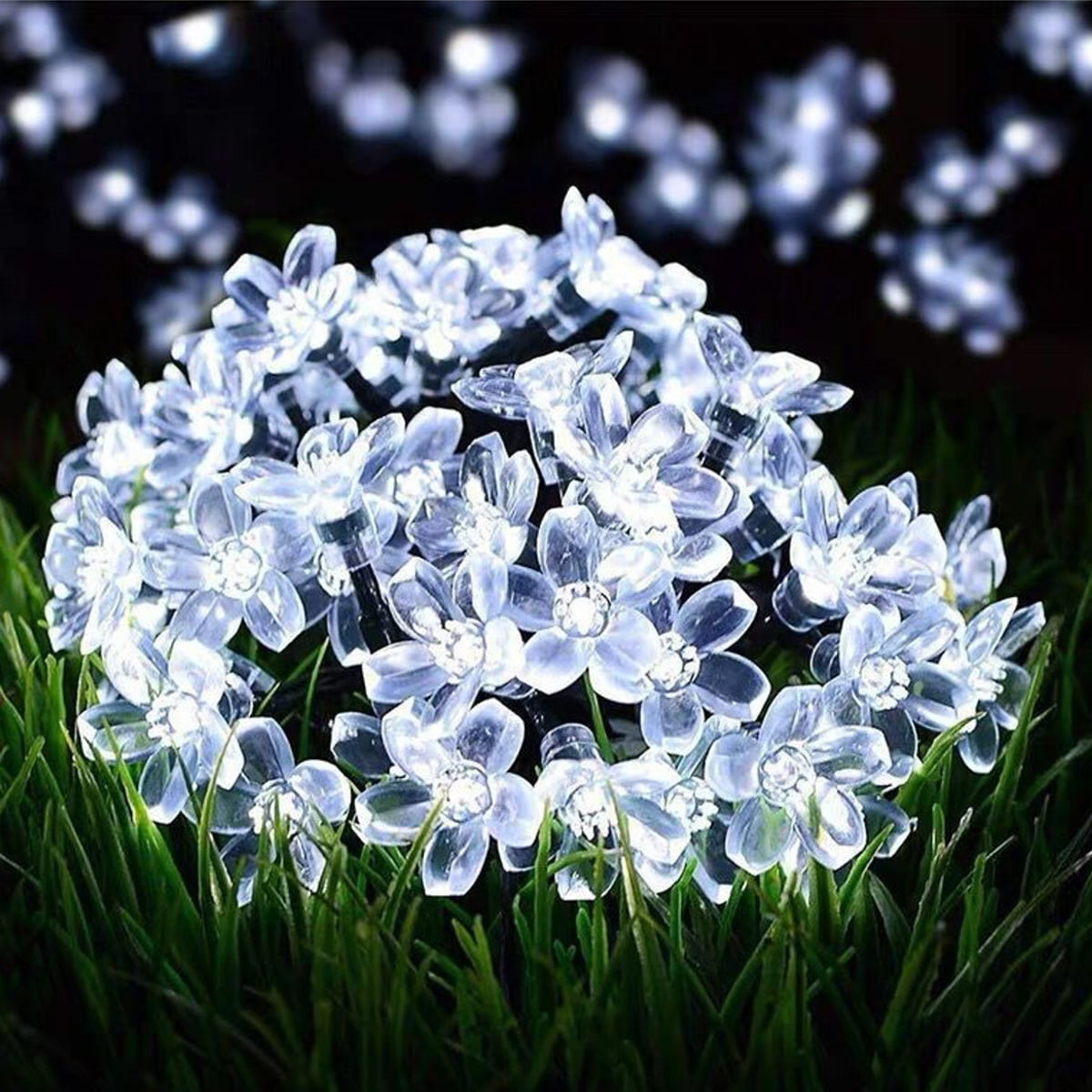 Details about  /100LED Solar Flower Blossom Fairy String Light Party Outdoor Garden Decor IP65