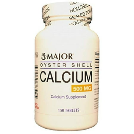 Major Oyster Shell Calcium Supplement Tablet, 500 mg, 150 Count