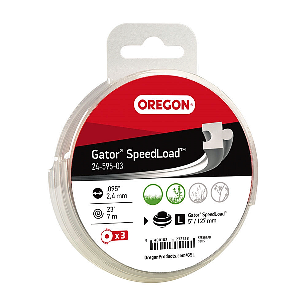 "3 Pack Oregon Gator SpeedLoad Weed Trimmer Line Cutting System Large .095"" Disks Fits Commercial 5"" Straight Shafts"