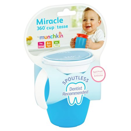 Munchkin Miracle 360 Trainer Cup, Green/Blue, 7 Ounce, 2 Count - image 4 of 5