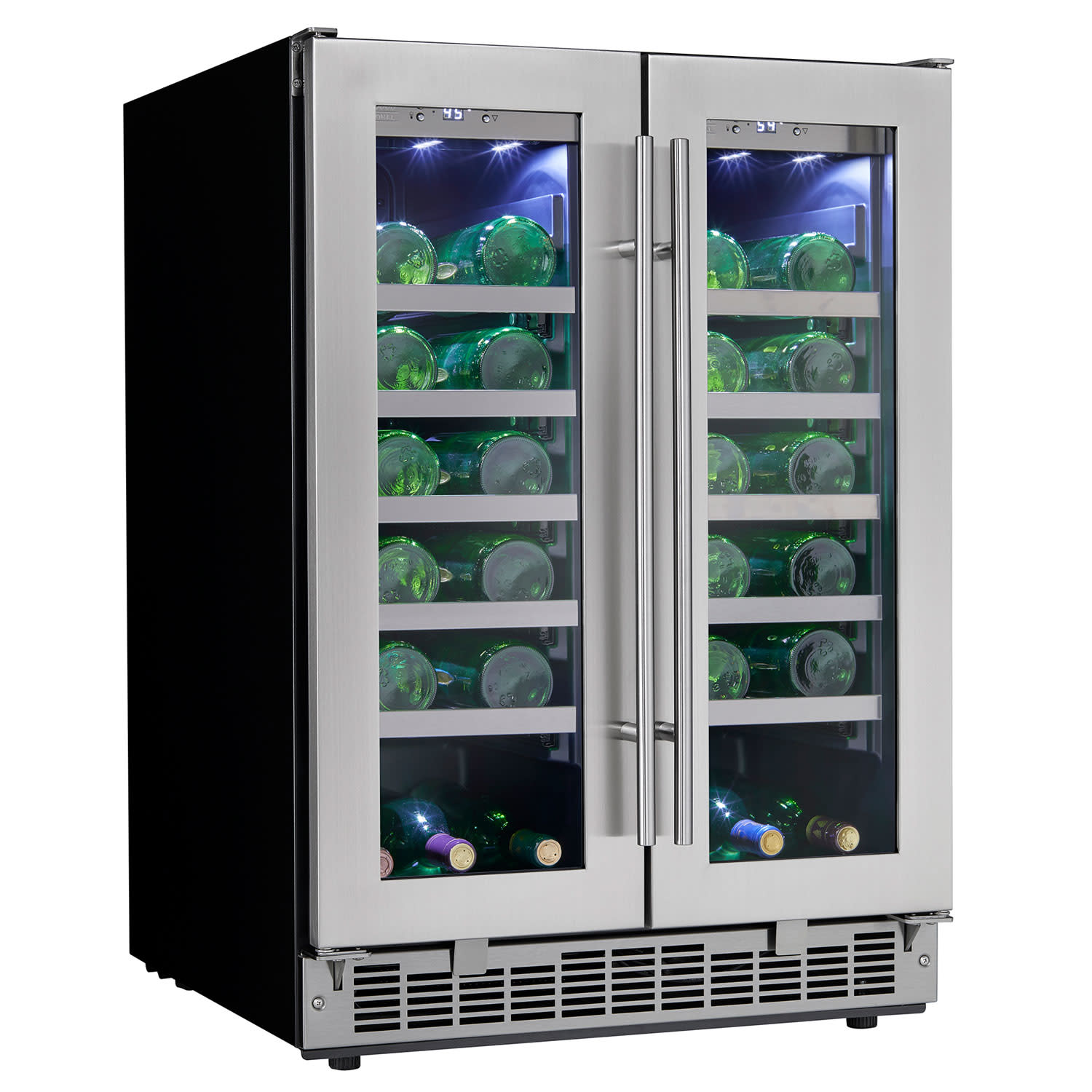 Danby DWC047D1 24 Inch Wide 42 Bottle Capacity Built-In Wine Cooler with Dual Te