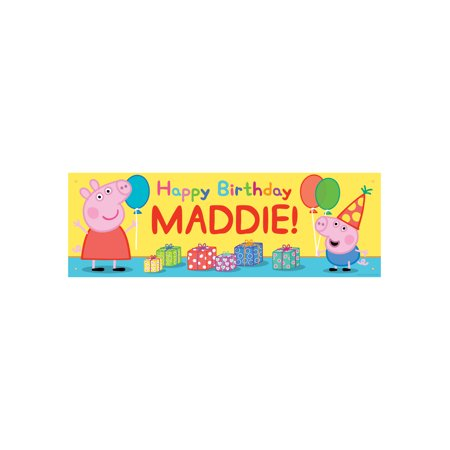 Personalized Peppa Pig Happy Birthday Banner - 72