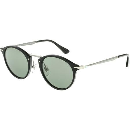 98c317339807b Persol - Persol Men s Polarized PO3166S-95 58-49 Black Round Sunglasses -  Walmart.com