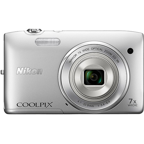 Nikon COOLPIX S3500 20.1 MP Digital Camera with 7x Zoom (Silver)