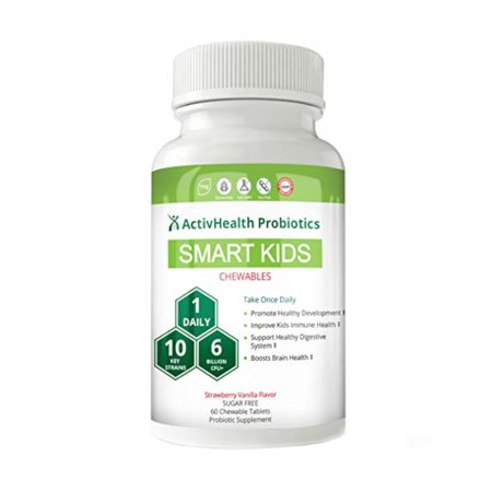Organic Kids Probiotics - Best Tablet for Kids with Allergies, 6 Billion CFUs, Dr Formulated Toddler Formula, Scientifically Verified & Tested Strains, Boost Your Child's
