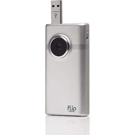 Flip MinoHD M2120M Brushed Metal Video Camera, 2 Hour Recording ...