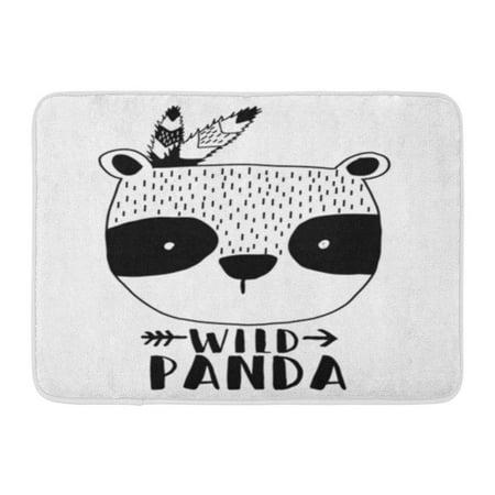 LADDKE Bear Panda Cute Pattern Happy Baby Doormat Floor Rug Bath Mat 23.6x15.7
