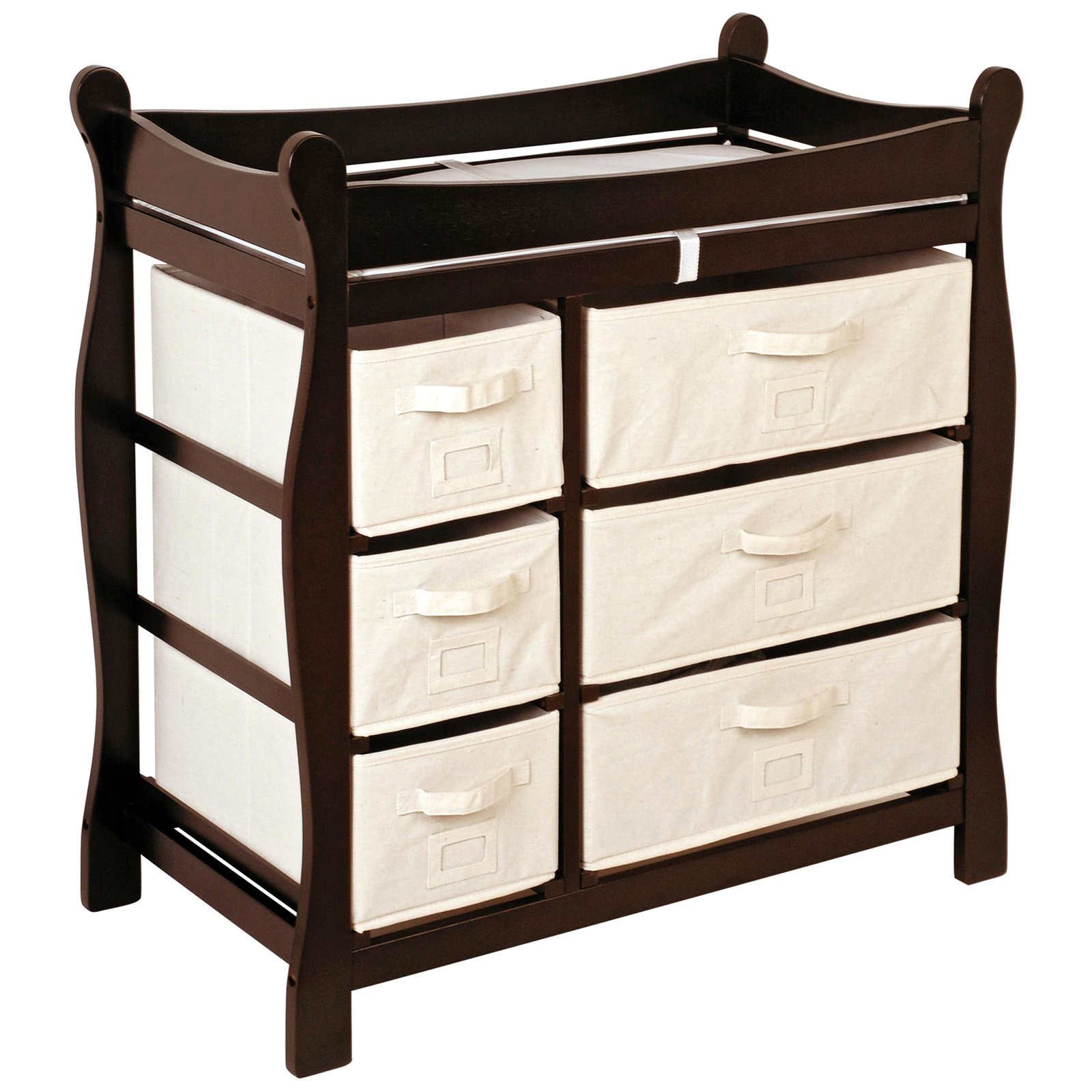 Badger Basket Changing Table with Six Baskets, Espresso by Badger Basket