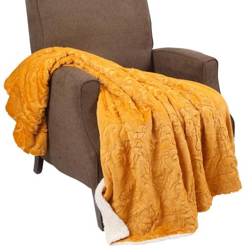 BOON Throw & Blanket Batik Faux Fur Sherpa Throw Blanket by Nantong BNF Textile Co.