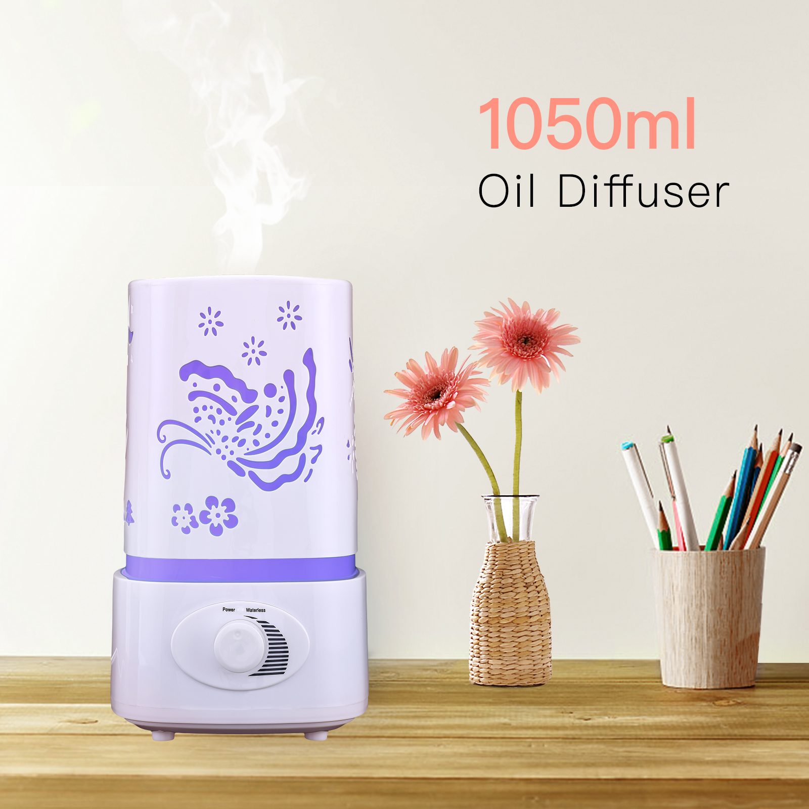 1.5L Ultrasonic Aroma Humidifier Air Diffuser Purifier Air Atomizer W LED Light by Uenjoy